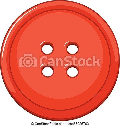 Isolated red button on white background - csp66926763