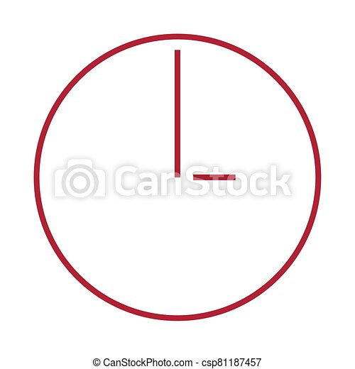 Isolated red clock icon - csp81187457