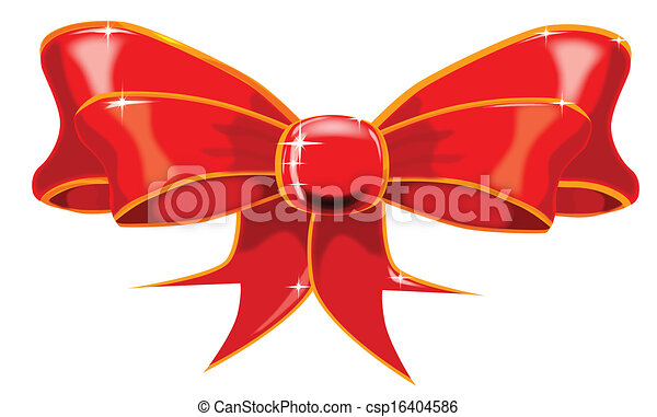 Isolated Red Ribbon - csp16404586