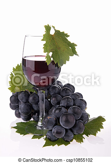 isolated red wine - csp10855102