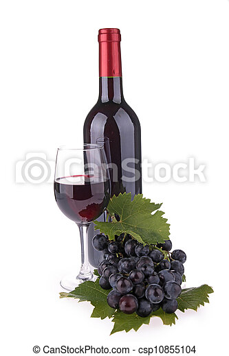 isolated red wine - csp10855104