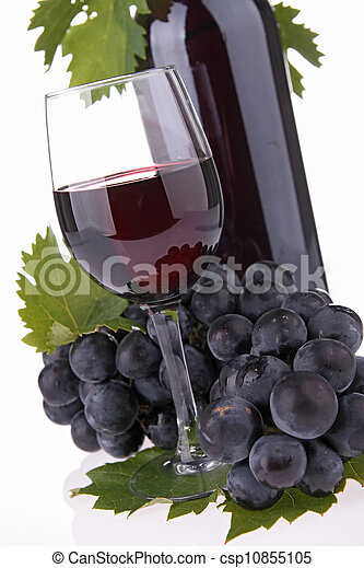 isolated red wine - csp10855105