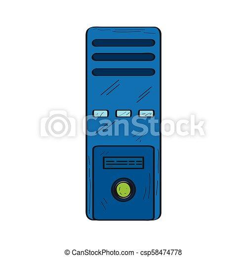 Isolated retro computer icon