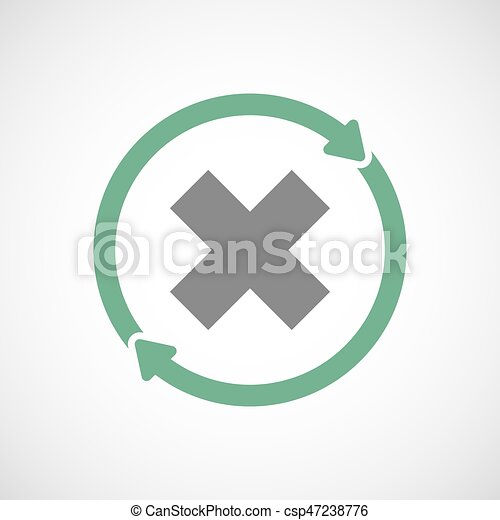 Isolated Reuse Icon With An X Sign Illuatration Of An Vectors