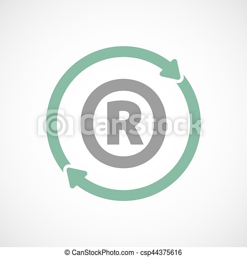 Isolated Reuse Sign With The Registered Trademark Symbol Vector