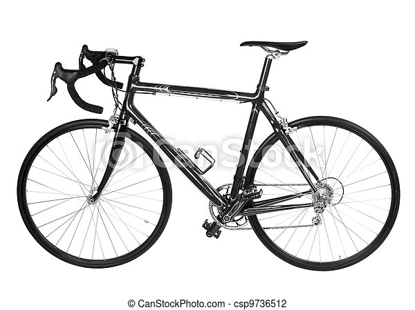 isolated road bicycle - csp9736512