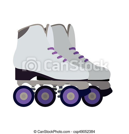 Isolated roller skates - csp49052384