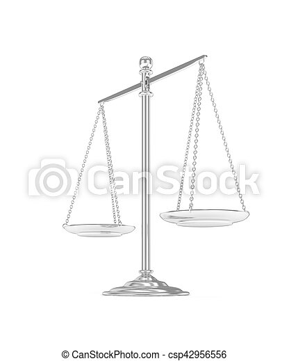 Isolated scales on white. 3D rendering. - csp42956556