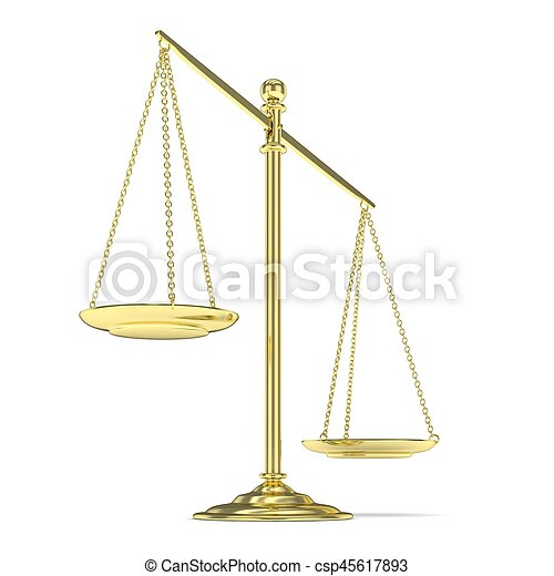 Isolated scales on white. 3D rendering. - csp45617893