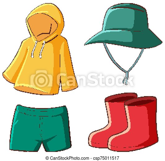 Isolated set of clothes - csp75011517