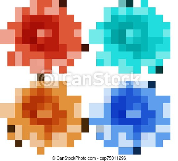 Isolated set of flowers - csp75011296