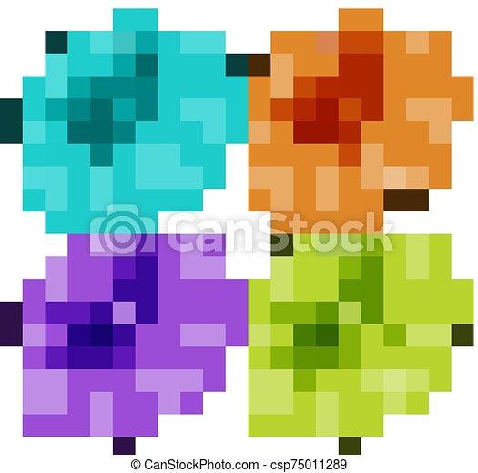Isolated set of flowers - csp75011289