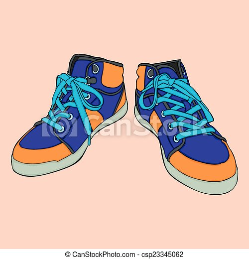 isolated shoes - csp23345062