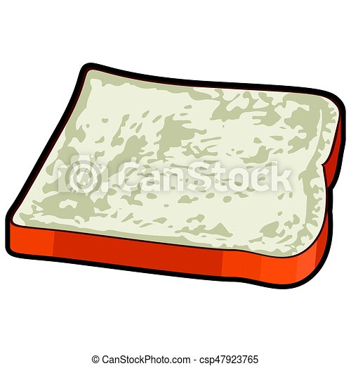 isolated slice bread isolated slice of bread on a white clip art rh canstockphoto ca slice of bread clipart black and white