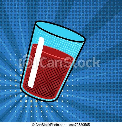 Isolated soda drink. Pop art style - csp70830565
