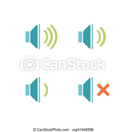 Isolated sound icons on a white background - csp51646296