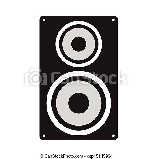 isolated speaker silhouette isolated silhouette of a speaker rh canstockphoto com speaker vector free download speaker vector icon