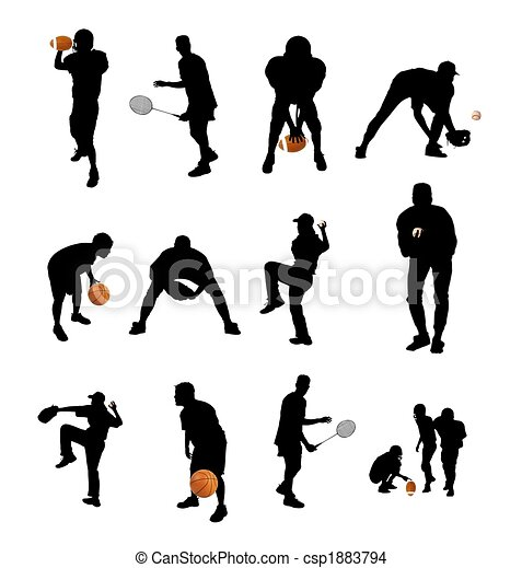 isolated sports silhouettes - csp1883794