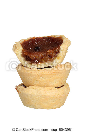 isolated stack butter tarts - csp16043951