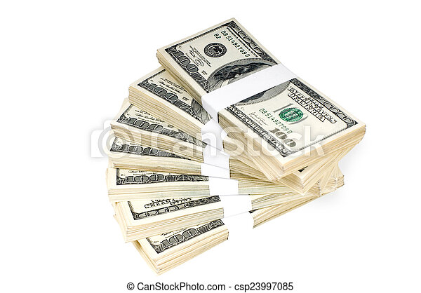 Isolated Stacks of Money