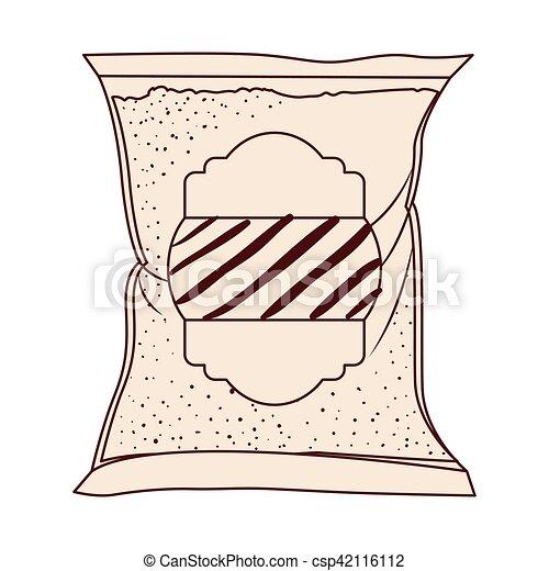 Isolated sugar bag design - csp42116112