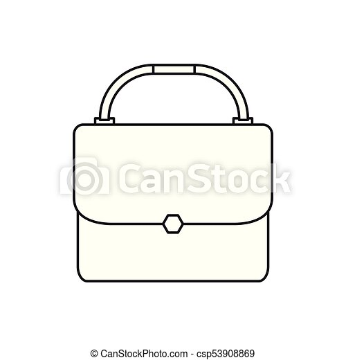 Isolated suitcase outline