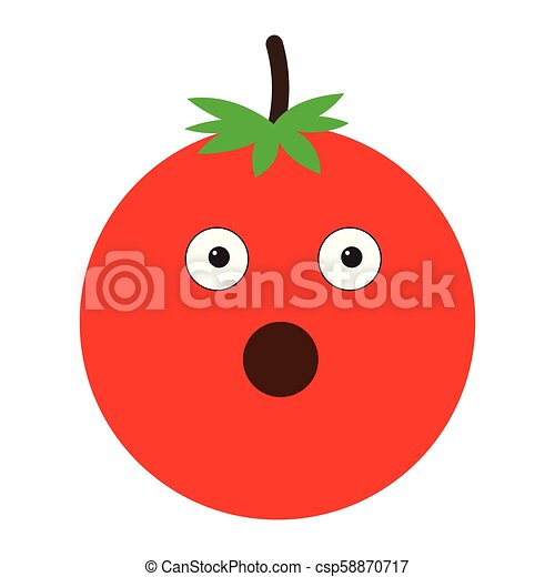 Isolated surprised tomato emote - csp58870717