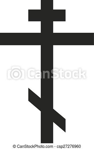 Isolated symbol of orthodox cross - csp27276960