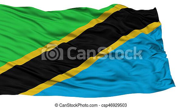 Isolated Tanzania Flag - csp46929503