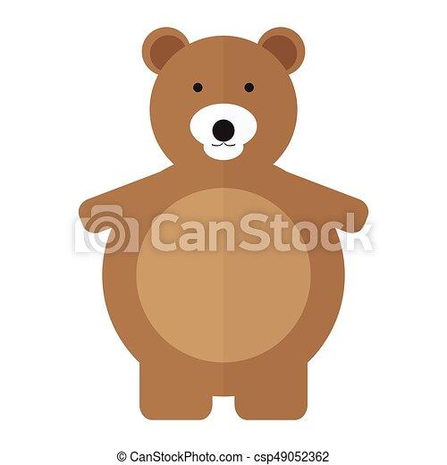 Isolated teddy bear - csp49052362