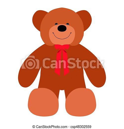 Isolated teddy bear - csp48302559