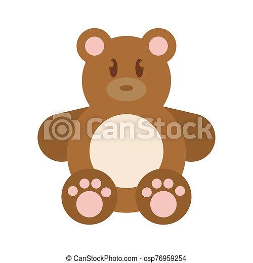 Isolated teddy bear - csp76959254
