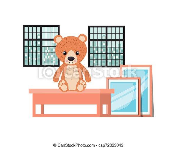Isolated teddy bear design vector illustration - csp72823043