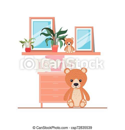 Isolated teddy bear design vector illustration - csp72835539