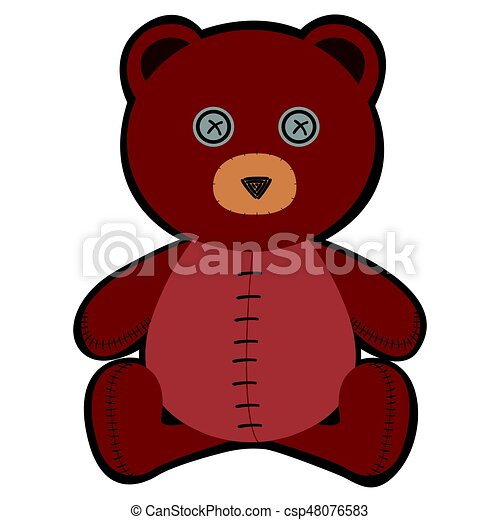 Isolated teddy bear - csp48076583