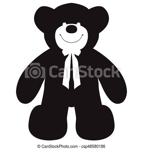 Isolated teddy bear - csp48580186