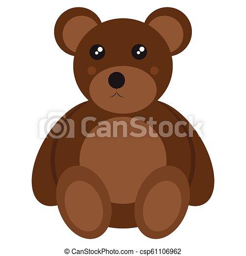 Isolated teddy bear toy - csp61106962