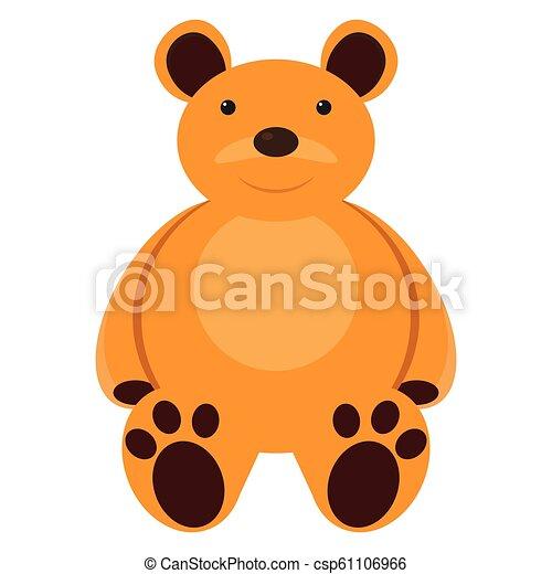 Isolated teddy bear toy - csp61106966