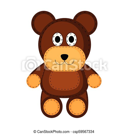 Isolated teddy bear toy icon - csp59567334