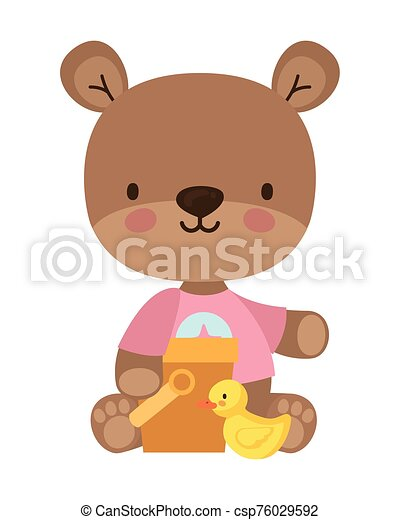Isolated teddy bear toy vector design - csp76029592