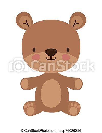 Isolated teddy bear toy vector design - csp76026386