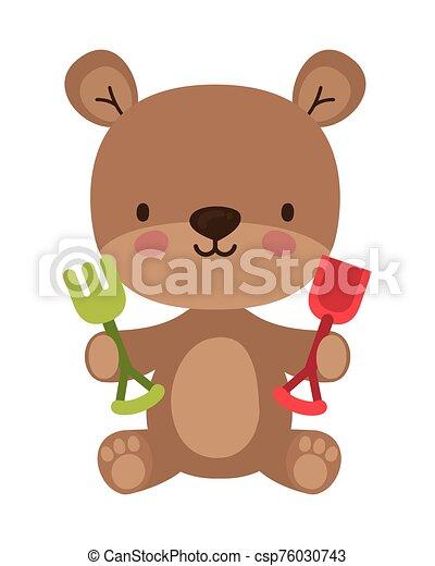 Isolated teddy bear toy vector design - csp76030743
