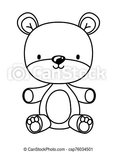 Isolated teddy bear toy vector design - csp76034501