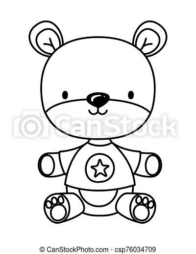 Isolated teddy bear toy vector design - csp76034709
