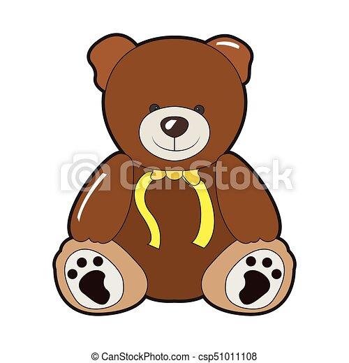 Isolated teddy bear - csp51011108