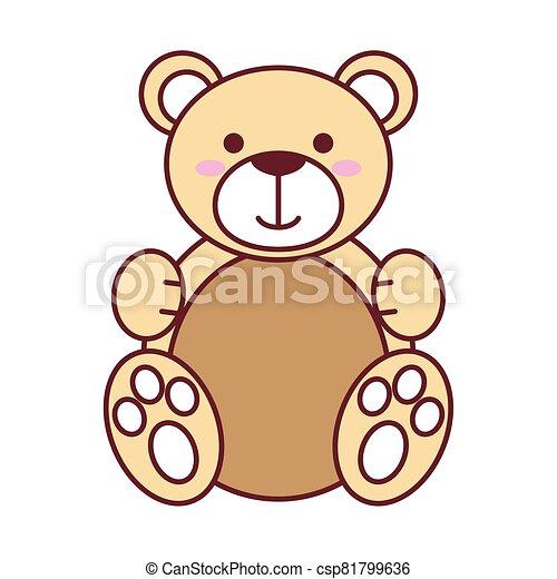 Isolated teddy bear vector design - csp81799636