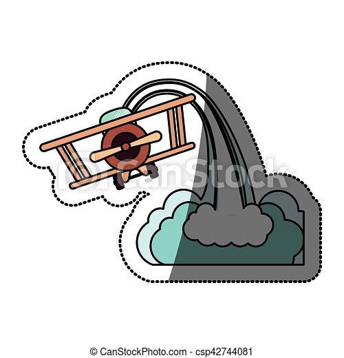 Isolated toy airplane design - csp42744081