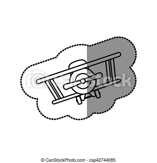 Isolated toy airplane design - csp42744085