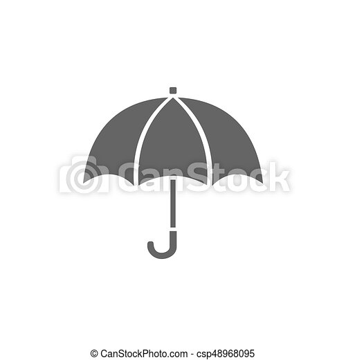 Isolated umbrella icon on a white background - csp48968095