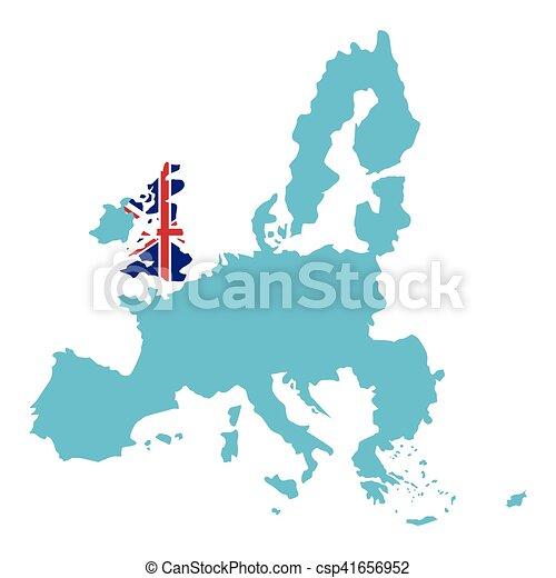 Isolated united kingdom map design